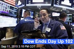Dow Ends Day Up 102