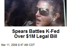 Spears Battles K-Fed Over $1M Legal Bill