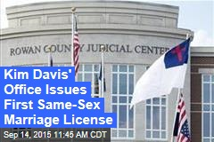 Kim Davis' Office Issues First Same-Sex Marriage License