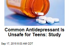 Common Antidepressant Is Unsafe for Teens: Study
