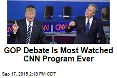 GOP Debate Is Most Watched CNN Program Ever