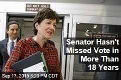 Senator Hasn't Missed Vote in More Than 18 Years