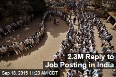 2.3M Reply to Job Posting in India