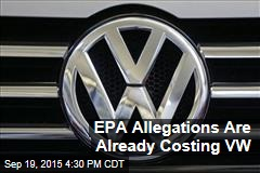 EPA Allegations Are Already Costing VW