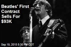 Beatles' First Contract Sells For $93K