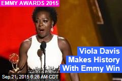 Viola Davis First Lead Black Actress to Win for Drama