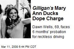 Gilligan's Mary Ann Ducks Dope Charge