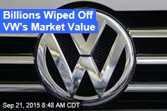 Billions Wiped Off VW's Market Value