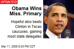Obama Wins Miss. Primary