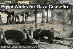 Egypt Works for Gaza Ceasefire