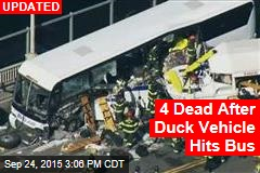 2 Dead After Duck Vehicle Hits Bus