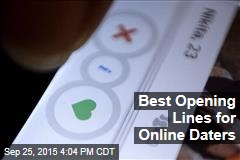 Best Opening Lines for Online Daters