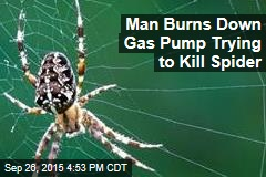 Man Burns Down Gas Pump Trying to Kill Spider