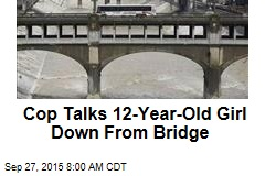 Cop Talks 12-Year-Old Girl Down From Bridge
