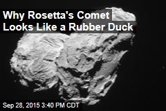 Why Rosetta's Comet Looks Like a Rubber Duck