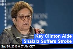 Key Clinton Aide Shalala Suffers Stroke