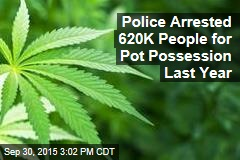 Police Arrested 620K People for Pot Possession Last Year