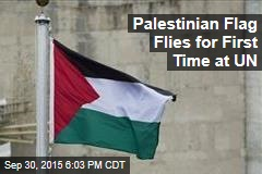 Palestinian Flag Flies for First Time at UN