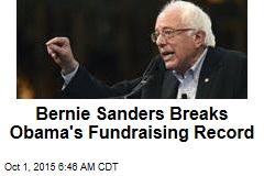 Bernie Sanders Breaks Fundraising Record