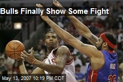 Bulls Finally Show Some Fight