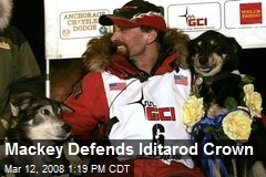 Mackey Defends Iditarod Crown