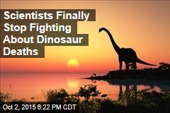 Scientists Finally Stop Fighting About Dinosaur Deaths