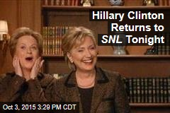 Hillary Clinton Returns to SNL Tonight