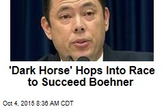 'Dark Horse' Hops Into Race to Succeed Boehner