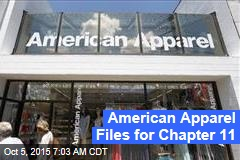 American Apparel Files for Chapter 11