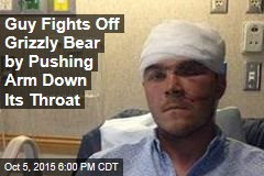 Guy Fights Off Grizzly Bear by Pushing Arm Down Its Throat