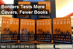 Borders Tests More Covers, Fewer Books
