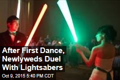 After First Dance, Newlyweds Duel With Lightsabers