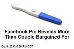 Facebook Pic Reveals More Than Couple Bargained For