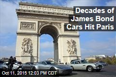 Decades of James Bond Cars Hit Paris