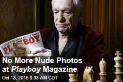 No More Nude Photos at Playboy Magazine
