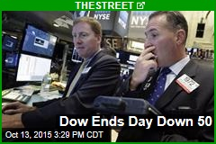 Dow Ends Day Down 50