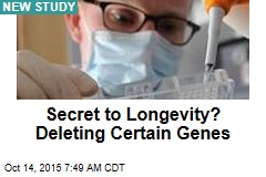 Secret to Longevity? Deleting Certain Genes
