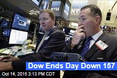 Dow Ends Day Down 157