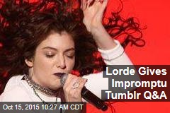 Lorde Gives Impromptu Tumblr Q&A