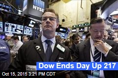 Dow Ends Day Up 217