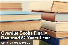 Overdue Books Finally Returned 52 Years Later