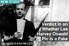Verdict In on Whether Lee Harvey Oswald Pic Is a Fake