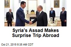 Syrian Leader Makes First Trip Abroad Since War Began