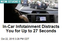 In-Car Infotainment Distracts You for Up to 27 Seconds