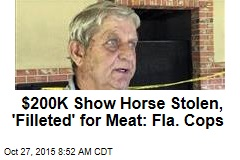 $200K Show Horse Stolen, 'Filleted' for Meat: Fla. Cops
