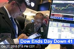 Dow Ends Day Down 41