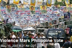 Violence Mars Philippine Vote