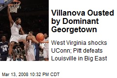 Villanova Ousted by Dominant Georgetown