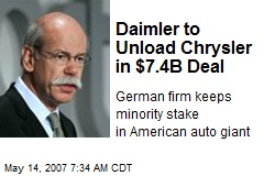 Daimler to Unload Chrysler in $7.4B Deal