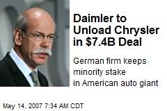 Daimler to Unload Chrysler in $7.4B Deal